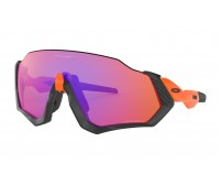 Occhiali Oakley Flight Jacket Prizm Matte Black/Neon Orange