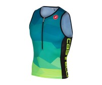 Canotta Triathlon Castelli Core 2 Top Blu/Giallo Fluo Mis. XL