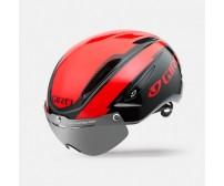 Casco Giro Air Attack Shield Nero/Rosso Mis.M
